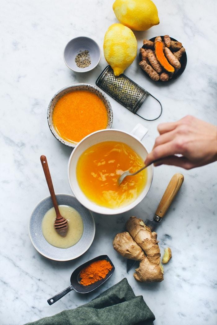 mặt nạ vitamin e và tinh bột nghệ