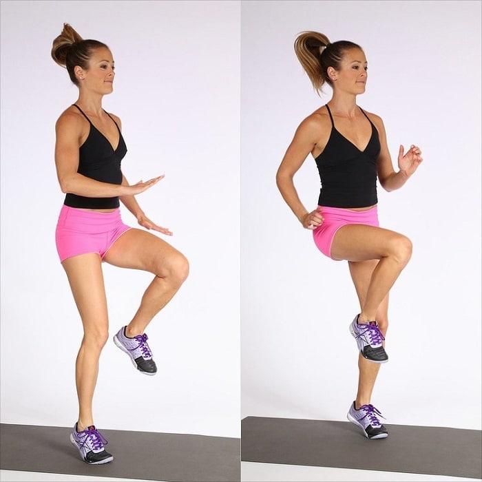 Cardio chạy bộ nâng cao gối