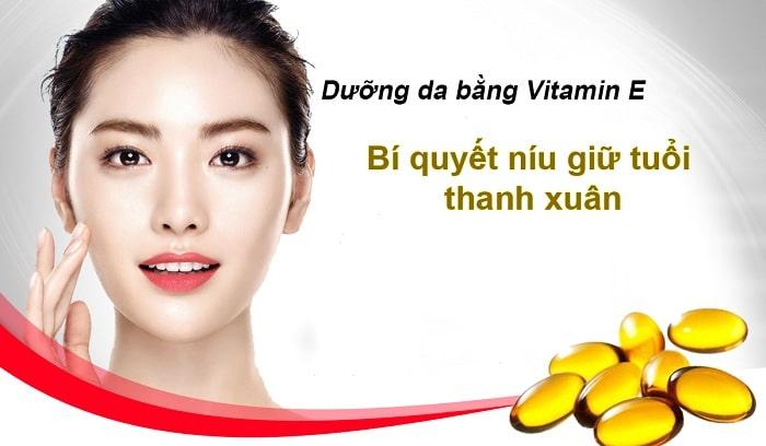 dưỡng da bằng vitamin e