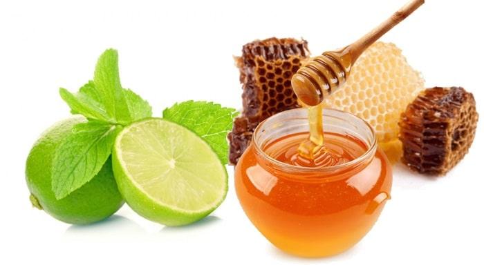 Mặt nạ se khít lỗ chân lông bằng mật ong và chanh.