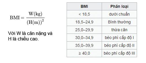 BMI chỉ số khối cơ thể