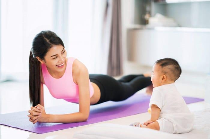 Cách bài tập giảm cân sau sinh tại nhà