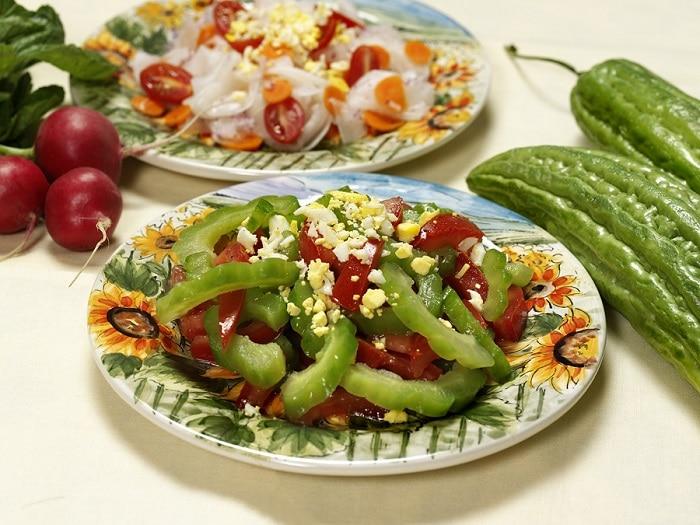 Salad mướp đắng giảm cân đẹp da.