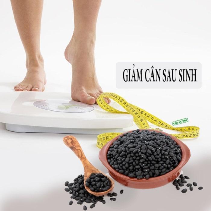 giảm cân sau sinh bằng đậu đen