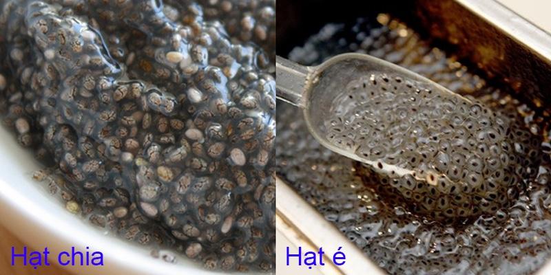 hạt chia và hạt é