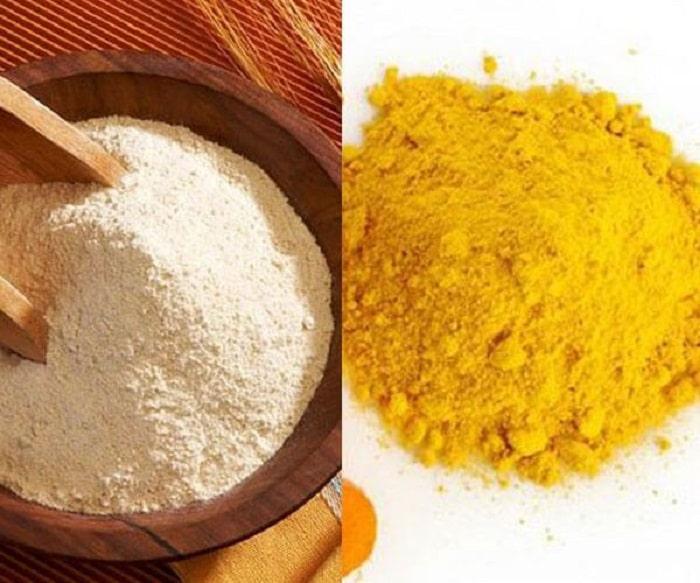 Nghệ và bột gạo giúp trị nám da cực kỳ hay.