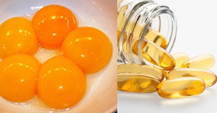 mặt nạ lòng đỏ trứng gàvà vitamin e