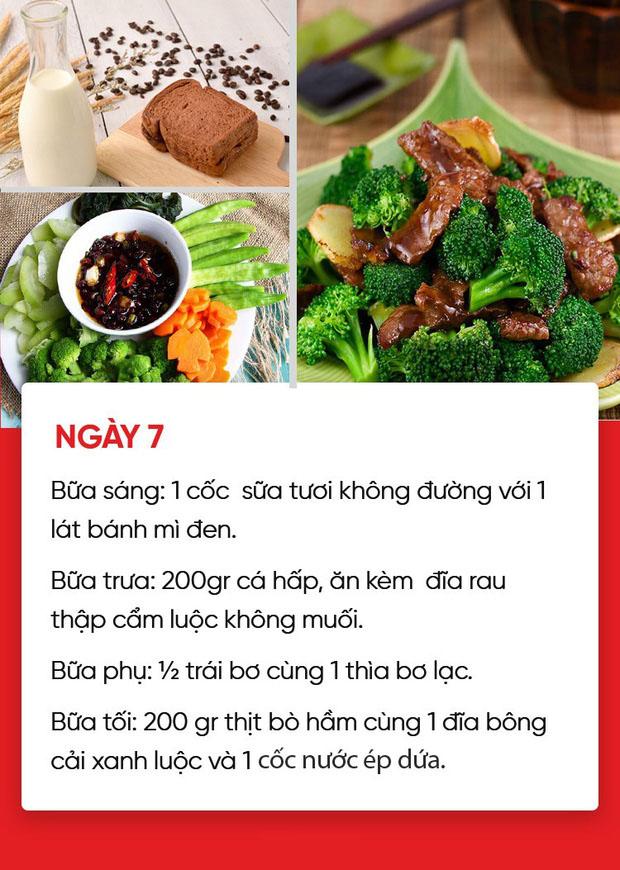 Thực đơn ăn kiêng giảm cân ngày 7