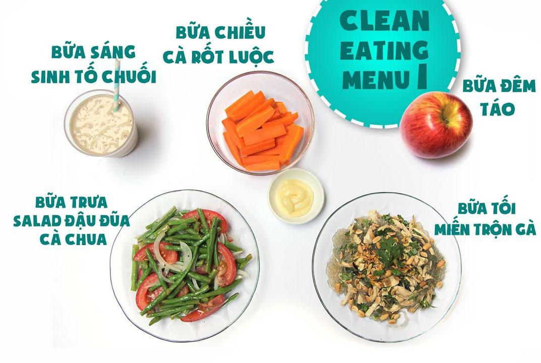 Thực đơn giảm cân Eat Clean ngày 1