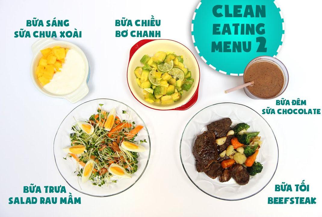 Thực đơn giảm cân Eat Clean ngày 2