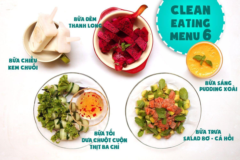 Thực đơn giảm cân Eat Clean ngày 6