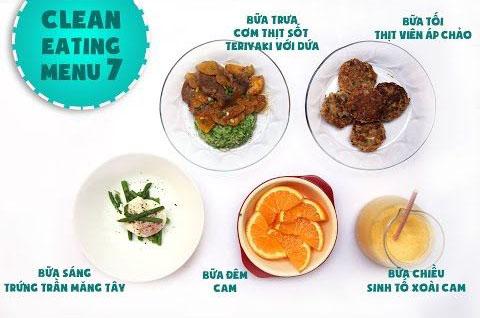 Thực đơn giảm cân Eat Clean ngày 7