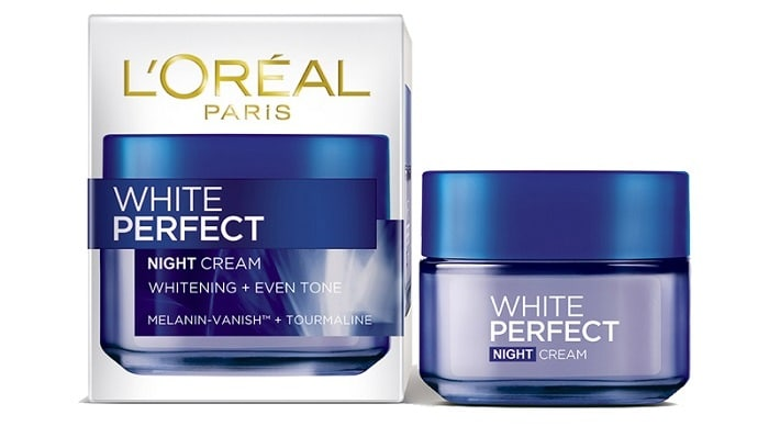 Loreal White Perfect night cream.