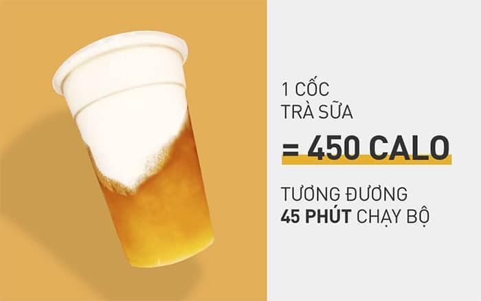 kết quả cho hình ảnh 1 ly trà sữa bao nhiêu calo