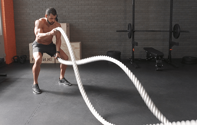 Bài tập đánh dây thừng - Battle Ropes