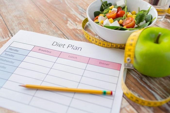 Đặt mục tiêu giảm cân cụ thể.