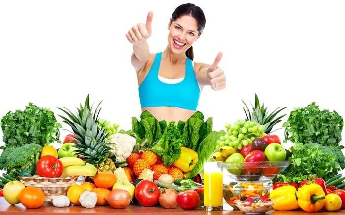 Tăng cường bổ sung vitamin trong các loại rau xanh, củ quả trước và trong khi tập gym.