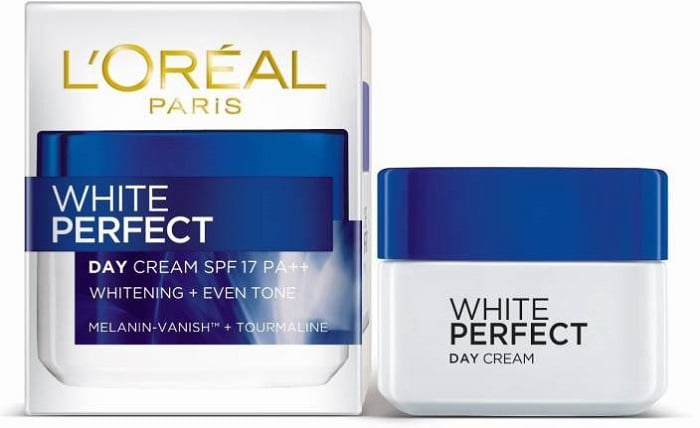 Loreal White Perfect day cream.