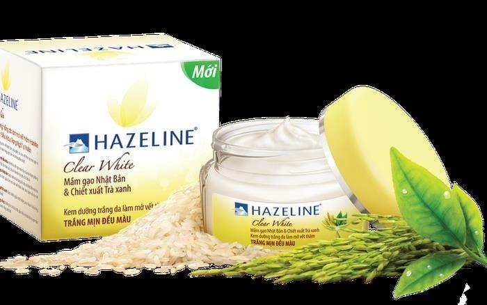 Kem dưỡng da mặt Hazeline mầm gạo và trà xanh.