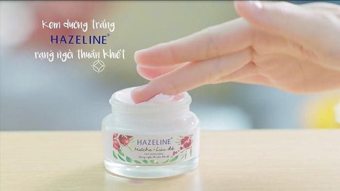 Kem dưỡng trắng da Hazeline matcha – lựu đỏ cho làn da rạng ngời tinh khiết.