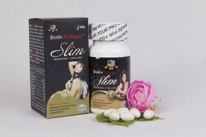 Viên uống giảm cân Biotin Collagen Slim.