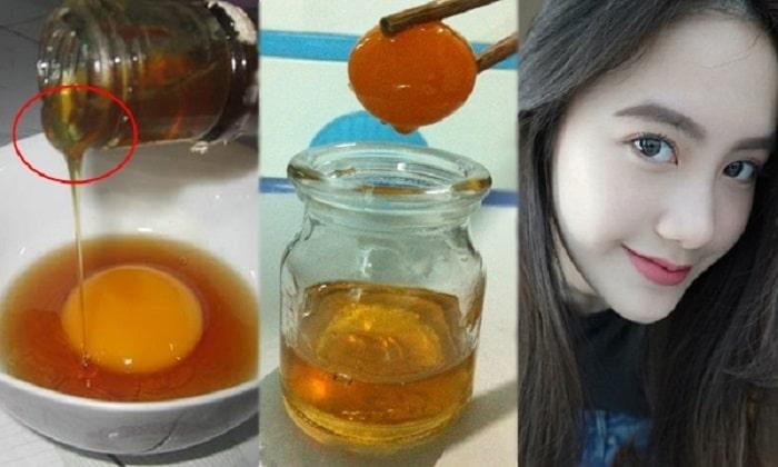 Cải thiện sắc tố trên da của bạn nếu như ăn lòng đỏ trứng gà ngâm mật ong.
