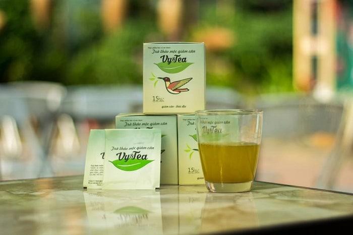 Uống trà Vy&Tea trước bữa ăn sáng 30 phút