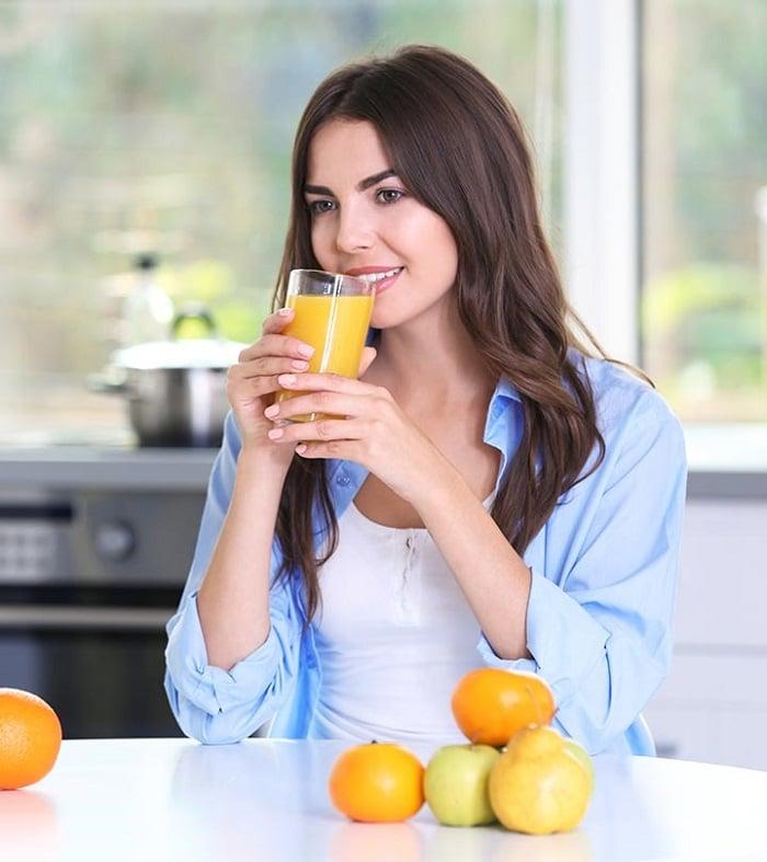 uống nước cam nhiều có giảm cân không