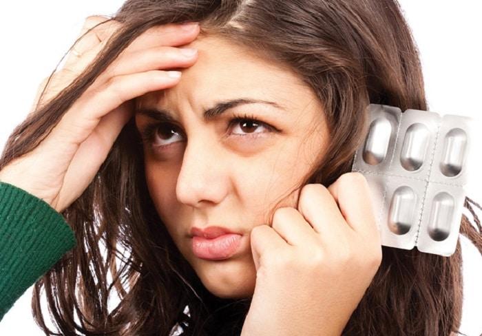 Thuốc giảm cân gây rụng tóc.