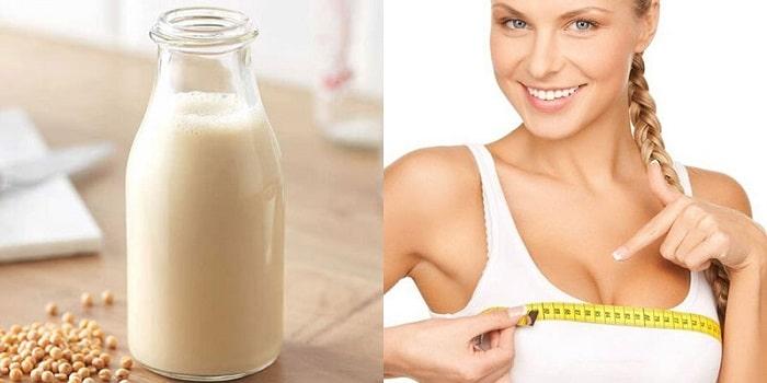 Sữa đậu nành giúp cải thiện vòng 1 rõ rệt.