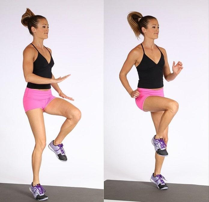 High Knees giảm mỡ bụng