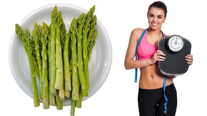 Ăn măng tây giúp giảm mỡ bụng dưới cho vòng eo thon gọn.