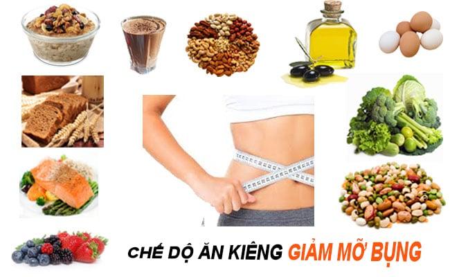 hình ảnh chế độ ăn kiêng giảm mỡ bụng