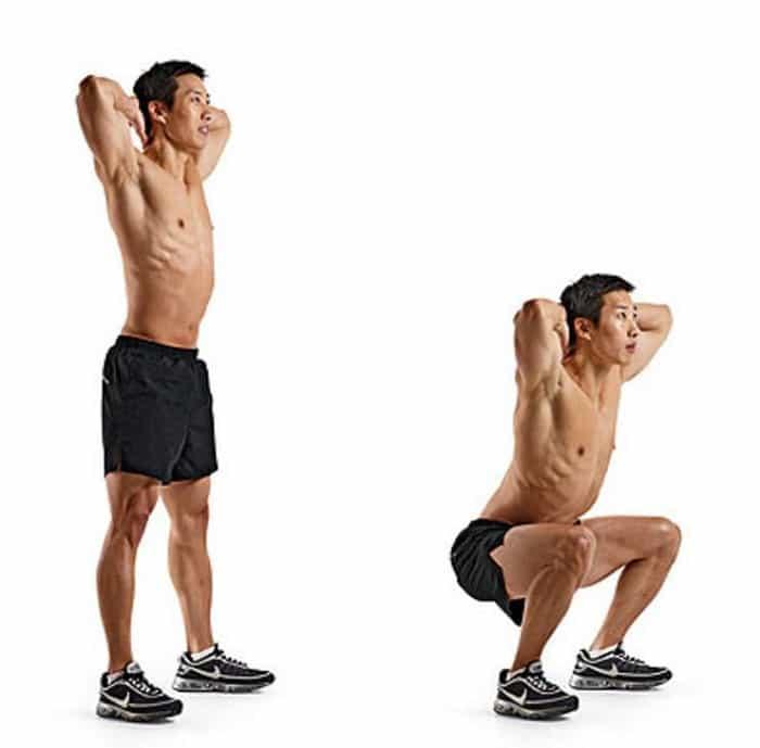 Đây là bài tập gym tại nhà cho nam mới bắt đầu giúp tăng cân, tăng cơ.