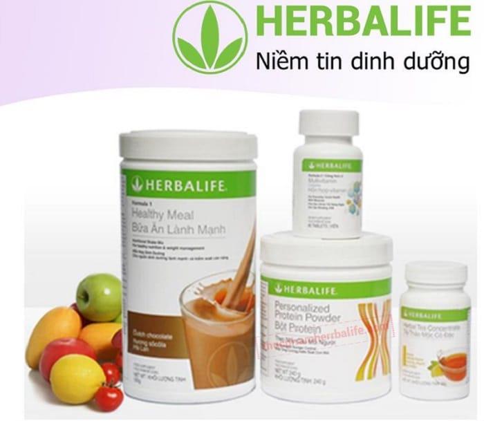 Bộ 4 thực phẩm chức năng giúp giảm cân Herbalife.