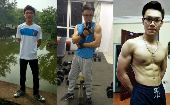 hình ảnh tập Gym tăng cân thành công