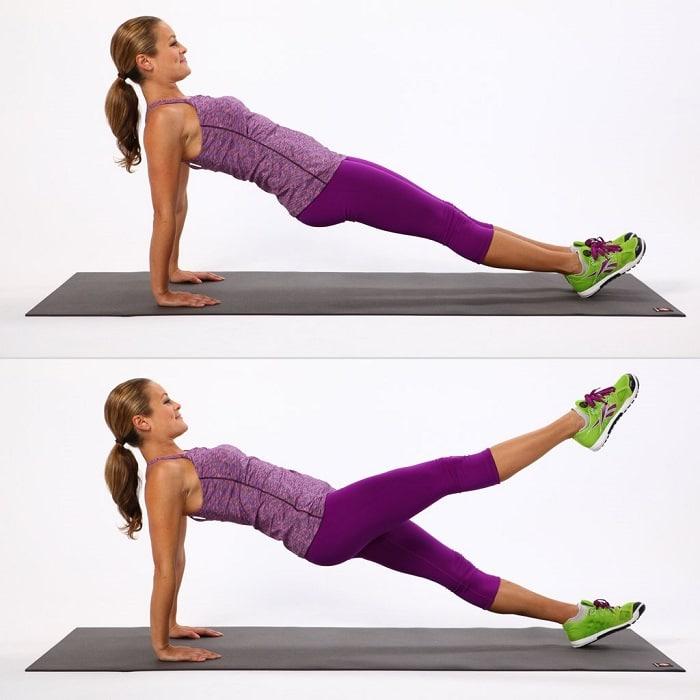 Tư thế đúng chuẩn của bài tập gym giảm mỡ bụng cho nữ.