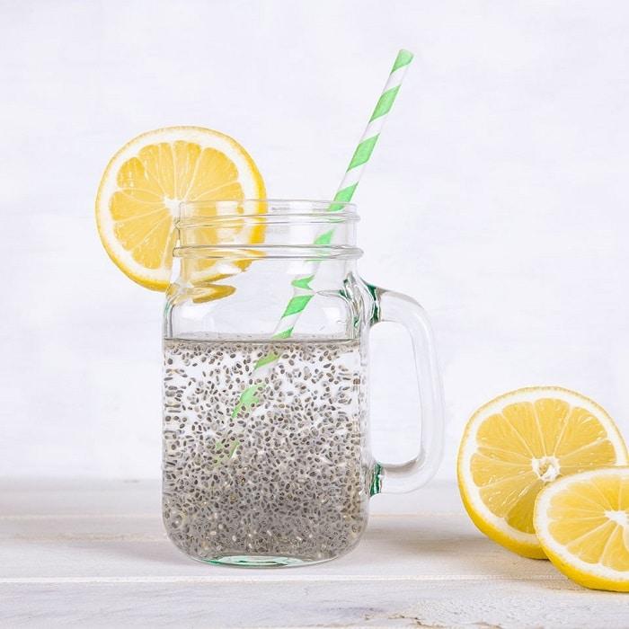 Giảm cân bằng hạt chia và nước chanh