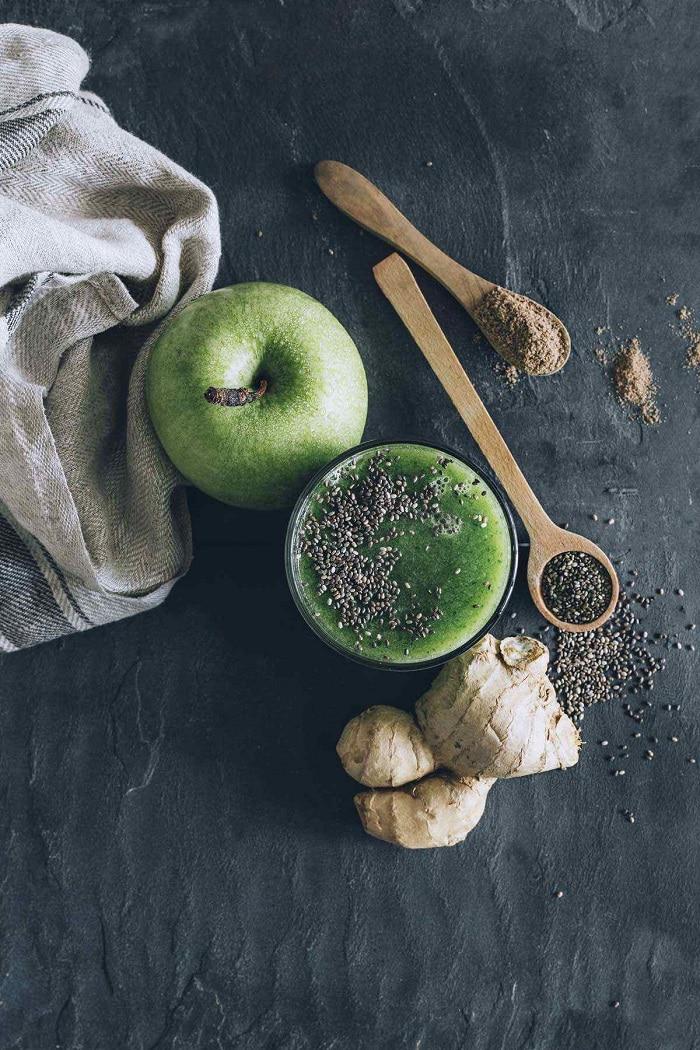 Sử dụng hạt chia với nước ép táo xanh để giảm cân