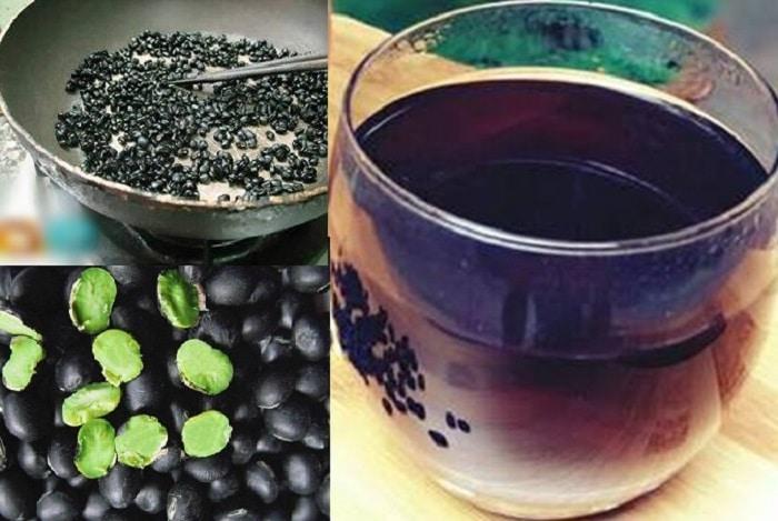 Uống nước đậu đen xanh lòng rang rất tốt cho cơ thể.