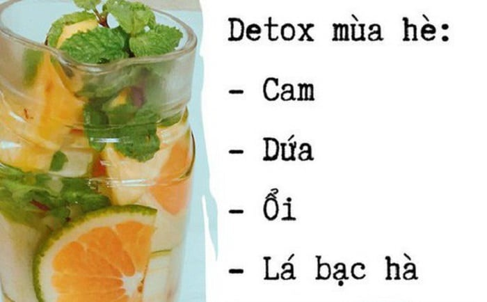 Hoặc bạn cũng có thể thử nước detox ổi theo công thức này.