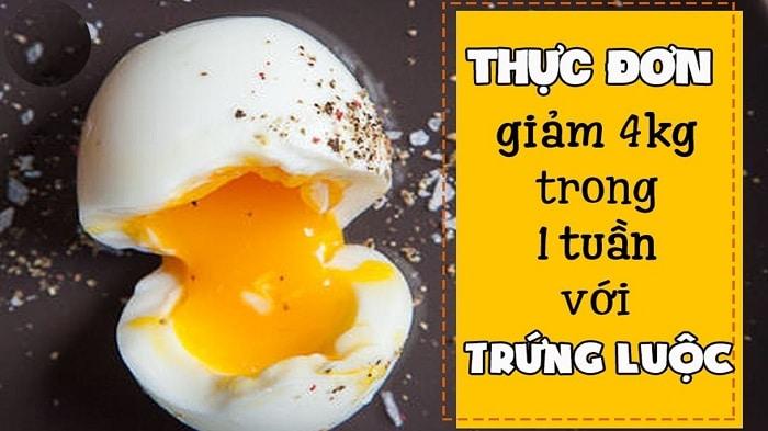 thực đơn giảm cân với trứng