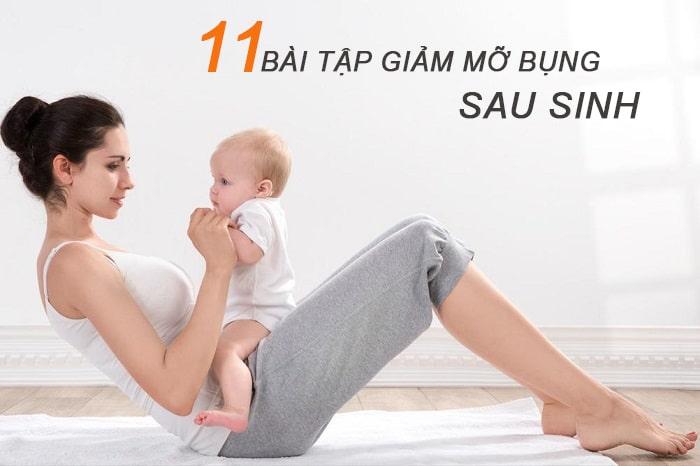 11 bài tập giảm mỡ bụng sau sinh