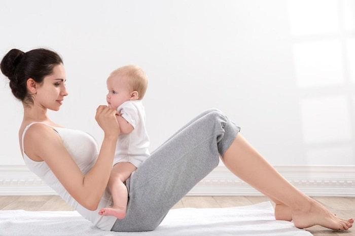 bài tập giảm mỡ bụng sau sinh