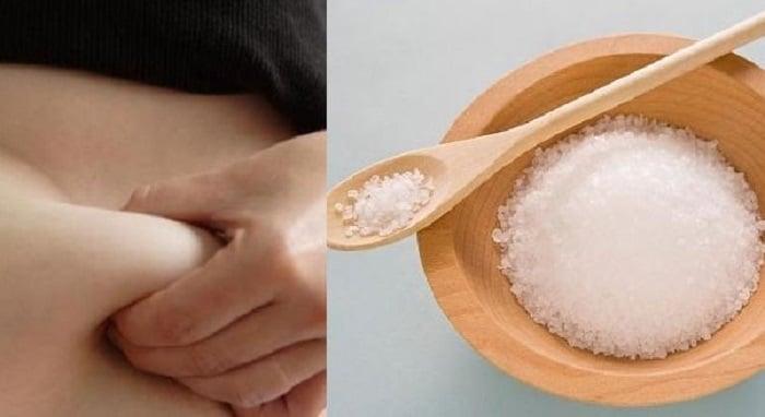 cách làm tan mỡ bụng bằng muối