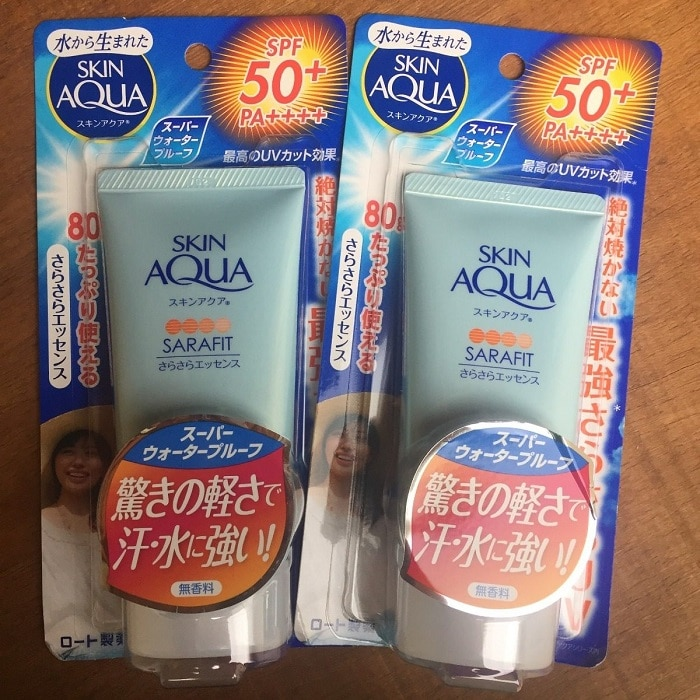 kem chống nắng skin aqua tone up review
