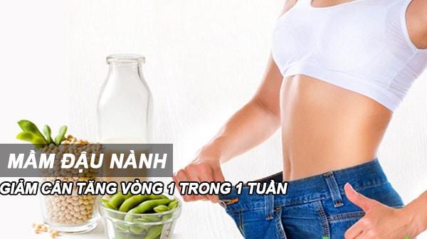 mầm đậu nành tăng cân