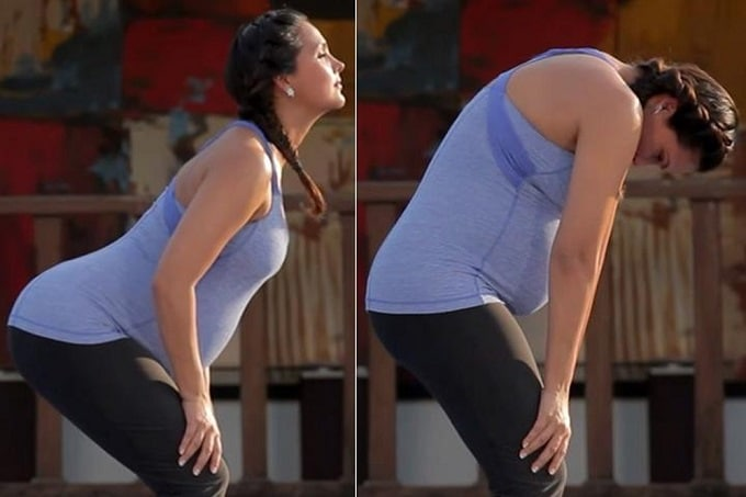 Yoga cho bà bầu tư thế lưng mèo