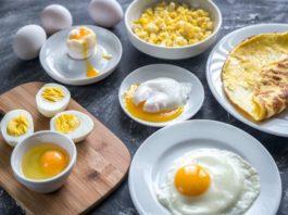 tăng cân với trứng gà