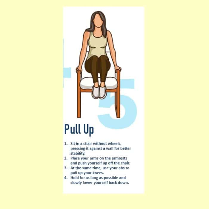 Cách ngồi giảm mỡ bụng bài tập Pull Up